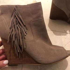 Light brown booties size 7.5